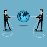 Business success concept,Businessmen in tug-of-war competition -. Vector Illustration Stock Images