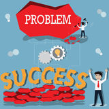 Business success concept,change problem to success - Vector. Illustration Royalty Free Stock Photo