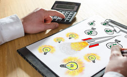Business success concept on a clipboard Stock Photo