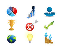 business success concept icon set Royalty Free Stock Photo