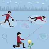 Business success concept,Idea light bulb growth immediately  - v Royalty Free Stock Photos