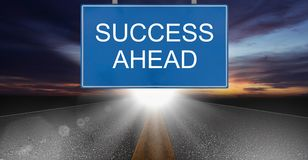 Business Success Concept. Road to growth and achievement Stock Image