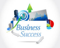 Business success concept sign illustration Stock Photography
