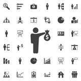 Business success concept vector icon. Business icons set Royalty Free Stock Photography
