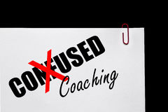 Business Success - Confused or Coaching?. Business Concept stock photography