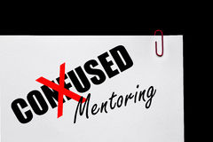 Business Success - Confused or Mentoring?. Business Concept stock photos