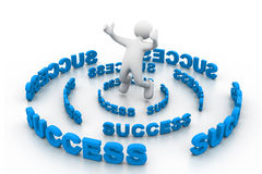 Business Success. 3d illustration of Business Success Stock Image
