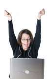 Business Success Excitement Stock Photography