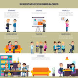 Business Success Flat Infographics Stock Images