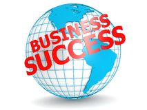 Business success with globe Stock Photos