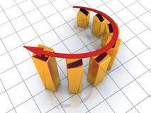 Business success golden graph Stock Image