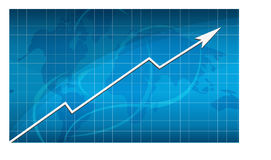 Business success graph Stock Photography