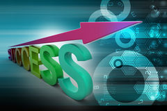 Business success graph Royalty Free Stock Images
