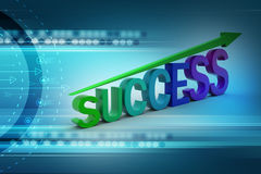 Business success graph Stock Images