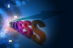 Business success graph Stock Photo