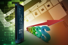 Business success graph Stock Image