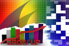 Business success graph Illustration Stock Image