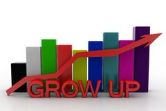 Business success graph Royalty Free Stock Photos