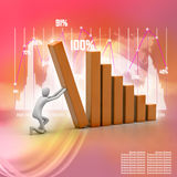 Business success and growth concept. 3d man, business success and growth concept Stock Photo