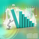 Business success and growth concept. 3d man, business success and growth concept Stock Image