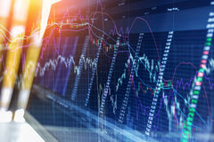 Business success and growth concept stock finance Stock Image