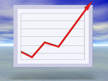 Business success and growth graph concept. Illustration Stock Photo