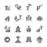 Business success icon set,  eps10 Royalty Free Stock Image