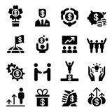 Business success icon set Royalty Free Stock Photography