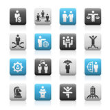 Business Success Icons -- Matte Series Royalty Free Stock Photography
