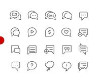 Bubble Icons // Red Point Series royalty free illustration