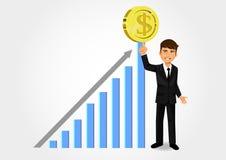 Business Success. Increasing graphic bar statistics Stock Photography