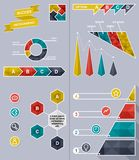 Business success infographic set. Success infographic - polygon set with icons for website, presentation, booklet Royalty Free Stock Images
