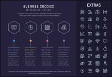 Business success infographic template and elements Royalty Free Stock Images