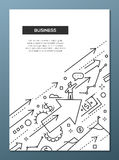 Business Success - line design brochure poster template A4 Stock Photography