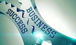 Business Success - Mechanism of Metallic Cogwheels. 3D. Stock Images