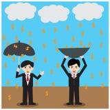 Business Success Money  finance dollar rain Royalty Free Stock Photo