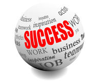 Business success motivation ball sphere royalty free illustration