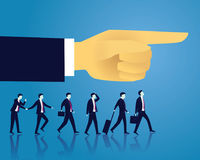 Business Success Moving Forward Direction Concept. Vector illustration. Business directional leadership conceptual. Businessmen stepping forward looking for Royalty Free Stock Image