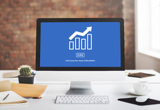 Business Success Report Graph Concept Stock Photography