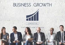 Business Success Report Graph Concept. Corporate Business Interactive Growth  Concept Royalty Free Stock Photography