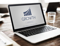 Business Success Report Graph Concept. Business Success Report Graph Growth Royalty Free Stock Photo