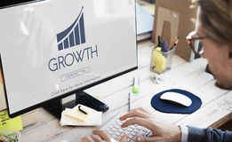 Business Success Report Graph Concept. Business Success Growth Graphic Concept Stock Images