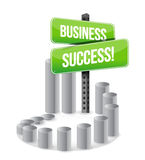 Business success sign graph sign Royalty Free Stock Image