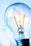 Business success with stock graph and light bulb Stock Photography