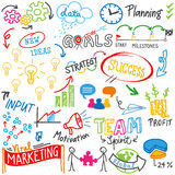 Business success strategy idea doodles scribbles Royalty Free Stock Photos