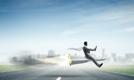 Business success and targets achievement concept. royalty free stock image