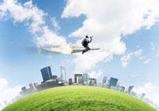 Business success and targets achievement concept. stock images