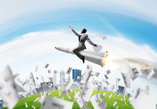 Business success and targets achievement concept. royalty free stock photo