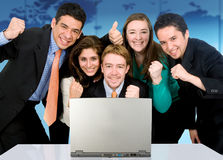 Business success team in an of Royalty Free Stock Photo