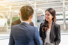 Business success team concept : professional businessman group m. Eeting teamwork communication ,selective focus Royalty Free Stock Photo